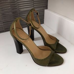 Gucci Olive Green Sandals - Size 6.5